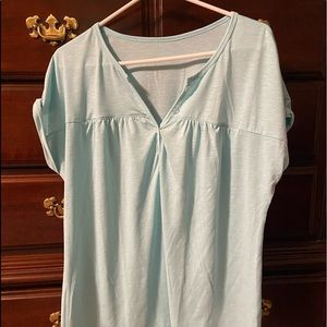 Short sleeve lite teal shirt